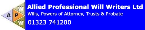 Allied Professional Will Writers  01323 741200
